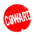 Coward rubber stamp vector image