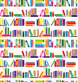 Colorful background with stylized books vector image