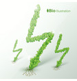 nature abstract eco concept vector image