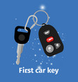 first car key vector image