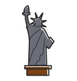 Simple statue of liberty vector image