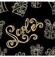 Seamless Ornate Pattern with Shoes vector image