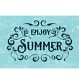 Summer holidays typography for poster vector image vector image