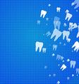 Dental health background vector image