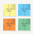 folded paper collection vector image