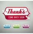 thank you labels vector image vector image
