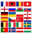 Set of 24 soccer balls icons flags of the vector image vector image