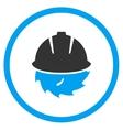 Circular Blade Safety Icon vector image