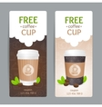 Coffee Coupon Set Free Cup vector image