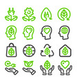 ecologyenergy renewable line icon vector image