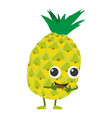 pineapple icon cartoon style vector image