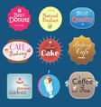set of vintage label design bakery vector image