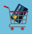 shopping related icons image vector image