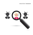 Search for an employee vector image vector image