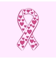pink ribbon National Breast Cancer Awareness Month vector image