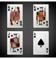 Poker design cards and game concept  casino vector image