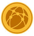 browser gold coin vector image