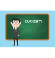 curiosity concept with business man vector image
