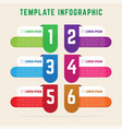 flat infographic template vector image