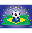 football over pitch vector image