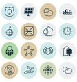 set of 16 ecology icons includes world ecology vector image