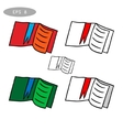 set of books icons vector image