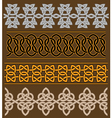 Set of celtic ornaments and patterns vector image vector image