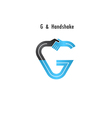 G- letter icon abstract logo design vector image