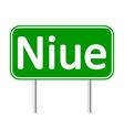 Niue road sign vector image