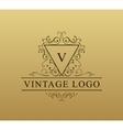 Vintage logo with swirls Flourishes vector image