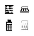 calculation simple related icons vector image