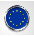 European union metal button flag vector image