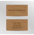 Business Card with Wood Texture vector image