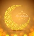 Eid Mubarak islamic festive background vector image