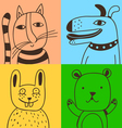 four pets vector image vector image