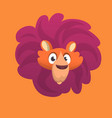 cartoon lion head icon vector image