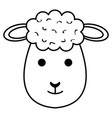cute sheep character icon vector image
