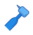 dental drill line icon vector image