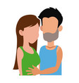 Embracing couple relationship together image vector image