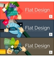 Flat design infographic banners with vector image