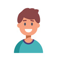 Flat Design Male Character Icon vector image