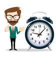 Man with an alarm clock vector image
