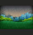 nature scene with rainy day in city vector image