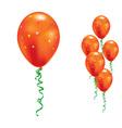 orange party balloons vector image