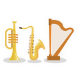 set of musical instruments event symbols vector image
