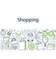Shopping banner doodle vector image