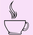 Silhouette of cup of tea or coffee vector image