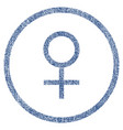 venus female symbol rounded fabric textured icon vector image