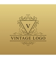 Vintage logo with swirls Flourishes vector image