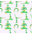 Yoga poses seamless pattern vector image